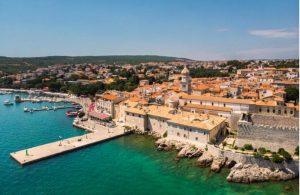 Krk-stad in Kroatië
