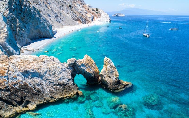 Lalaria strand Skiathos Griekenland