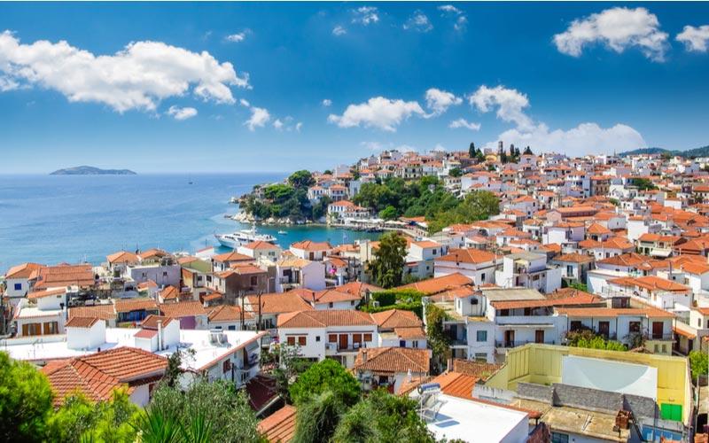 Skiathos-stad Griekenland