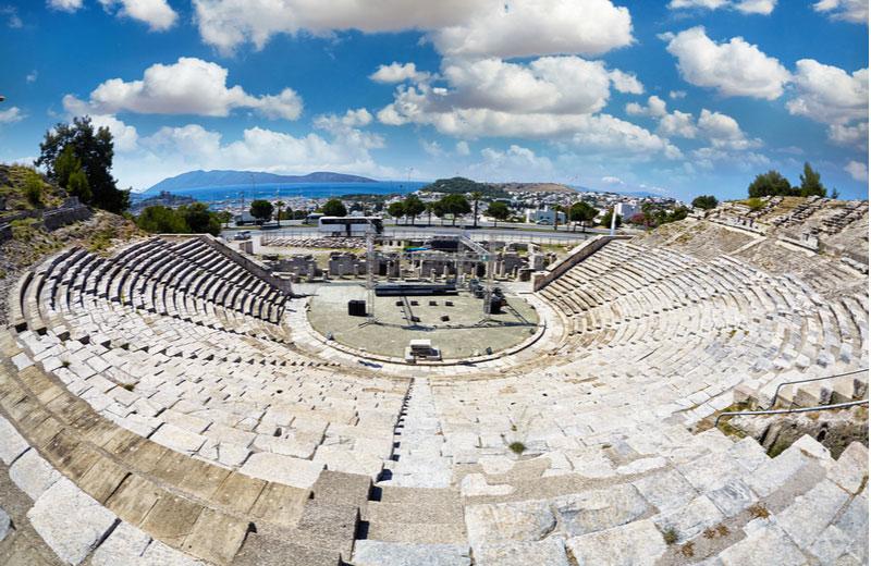 Antieke Griekse theater in Bodrum