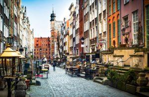 Architectuur en straten van Gdansk