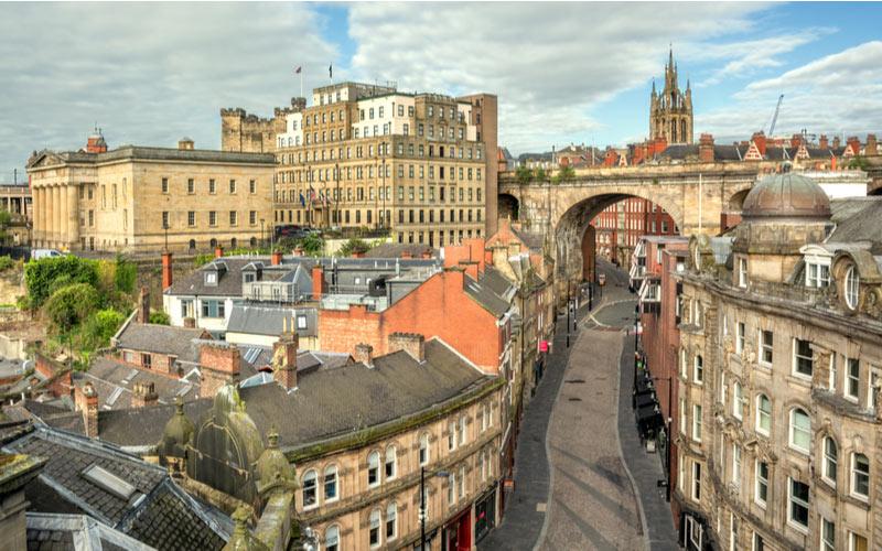 Het centrum van Newcastle