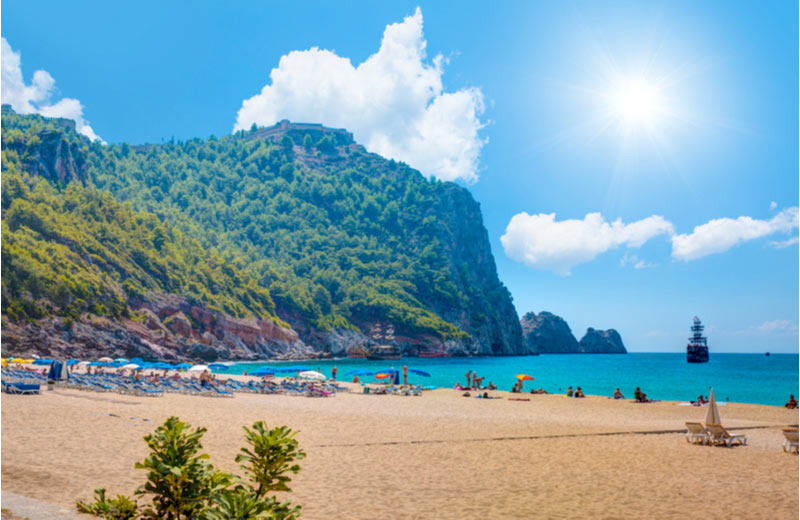 Cleopatra beach in Alanya Turkije