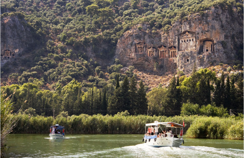 Dalyan boot tour langs graftombes