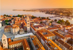 Vakantie oude gedeelte van Zadar bezoeken