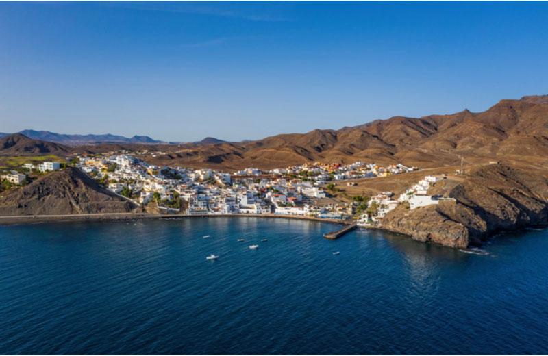 De stad Gran Tarajal op Fuerteventura