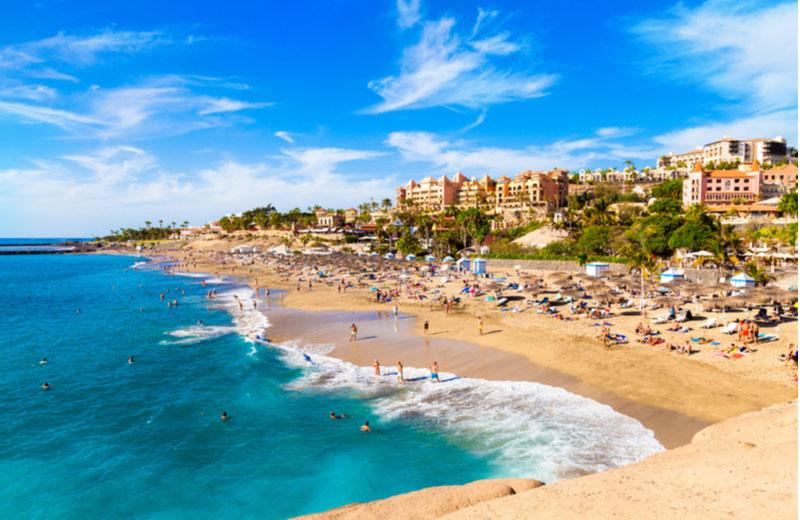 El Duque strand bij Costa Adeje