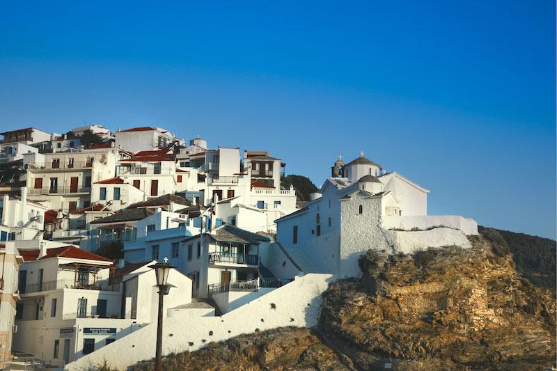 Evangelistria klooster in Skopelos-stad