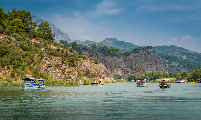 Excursie over Dalyan rivier