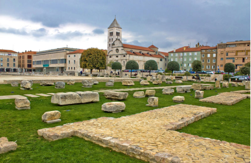 Forum Romanum in het oude gedeelte van zadar