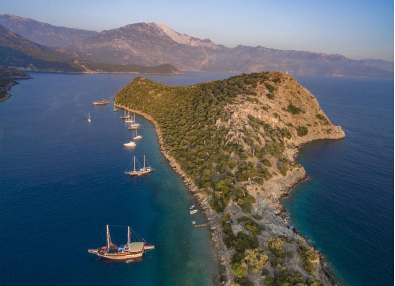 Gemiler Island bij Fethiye