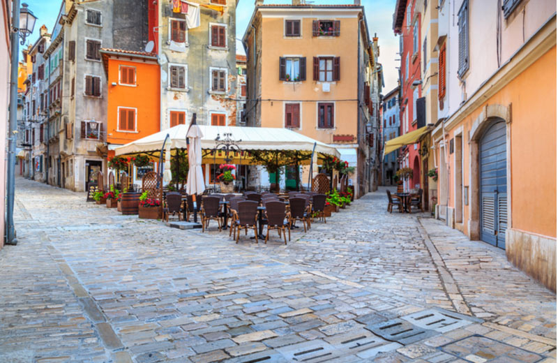 Gezellige straatjes door Rovinj
