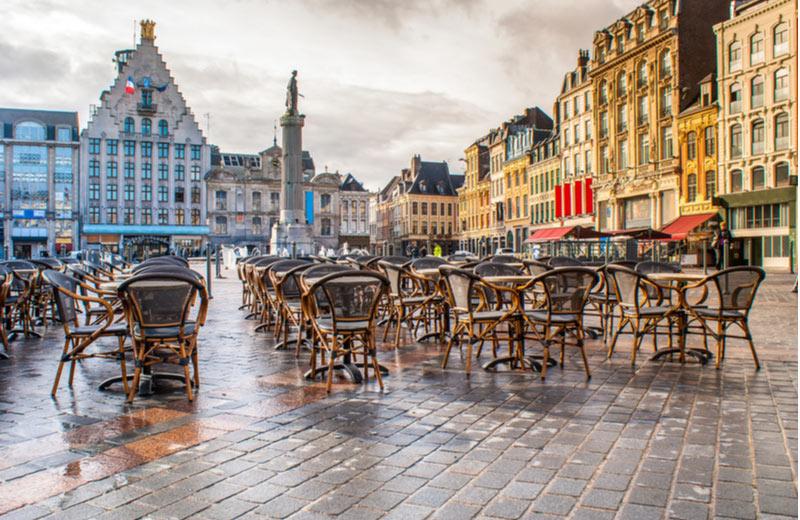Grote markt Grand Place in Lille/Rijsel