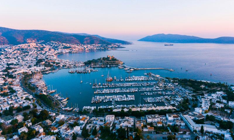 De haven van Bodrum Turkije