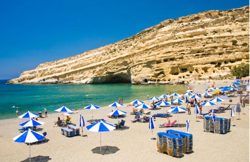 Het strand Matala beach