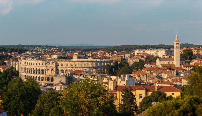 Historisch centrum van Pula