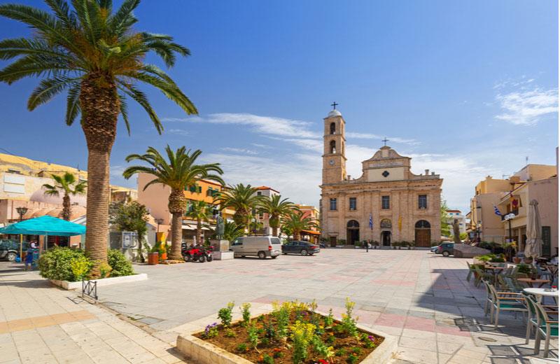 Centrum van Chania op Kreta