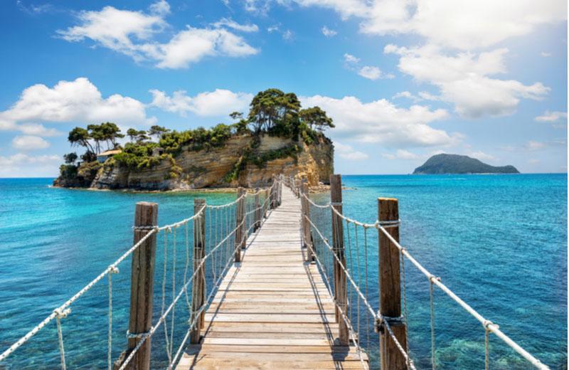 Cameo Island Agios Sostis vanaf Agios Sostis