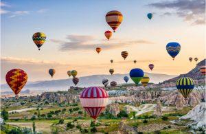 Luchtballonnen in Cappadocië