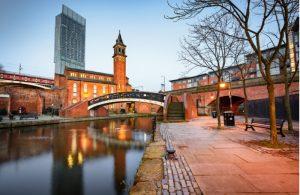 Kanaalgebied Castlefield in Manchester