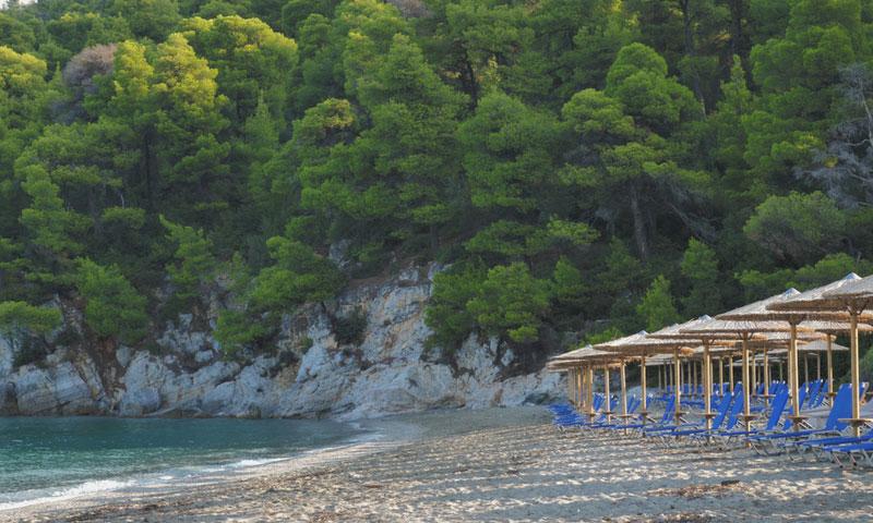 Kastani beach op Skopelos