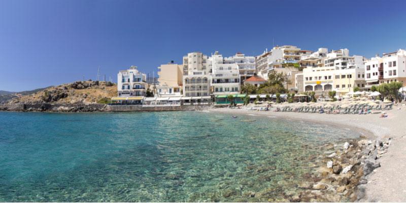 Kitroplatia beach bij Agios Nikolaos
