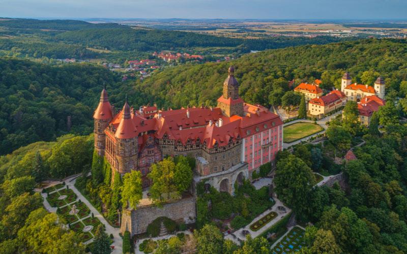 Het Ksiaz kasteel