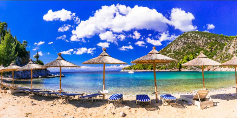 Limnonari beach op Skopelos