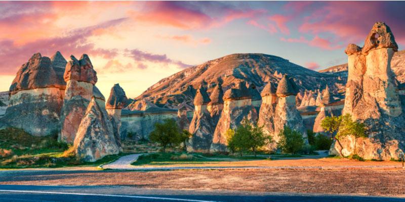 Magische landschap van Cappadocië in Turkije