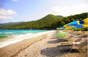 Milia Beach op Skopelos