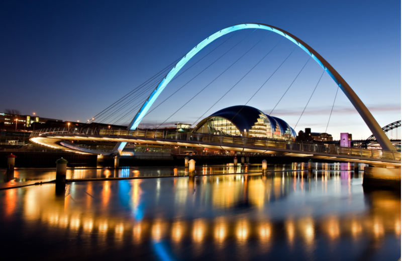 Millennium Bridge in Newcastle