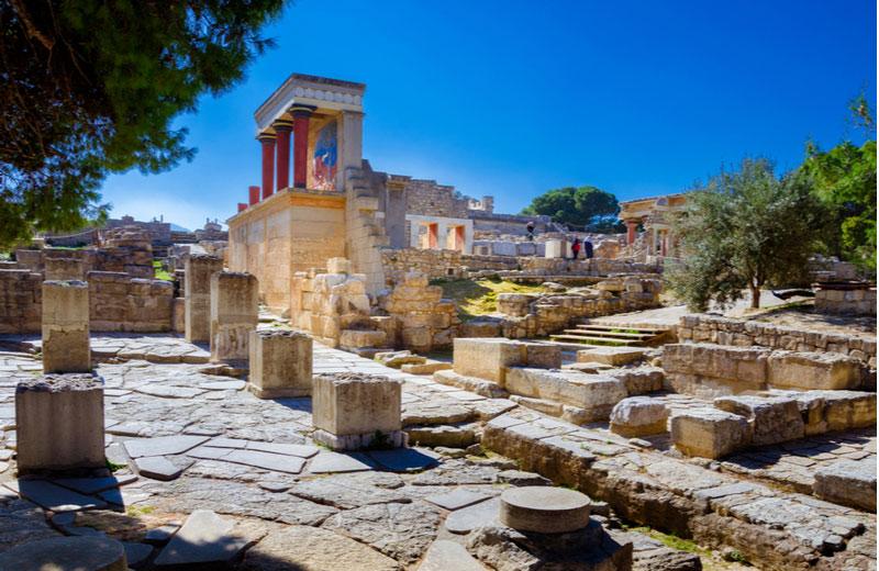 Opgravingen van Knossos op Kreta