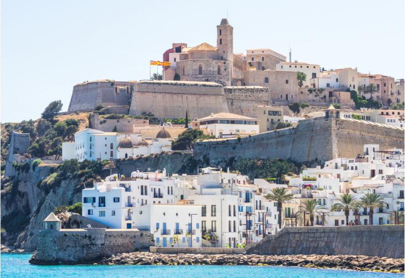 Oude gedeelte van Ibiza-Stad