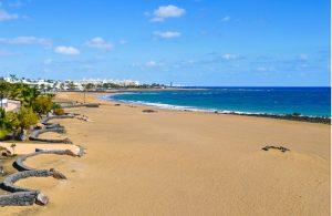 Het strand Playa de Matagorda