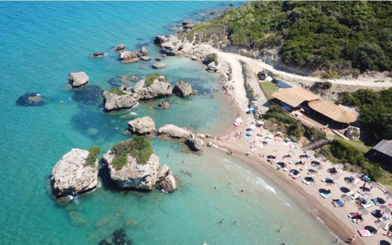 Porto Azzuro beach in Vassilikos