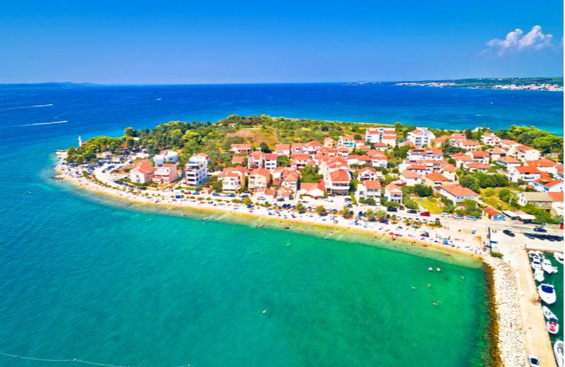 Puntamika Peninsula beach bij Zadar