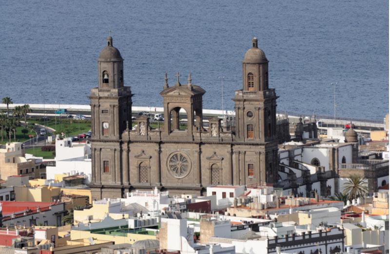 Santa Ana Kathedraal in Vegueta in Las Palmas