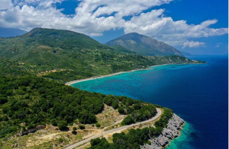 Skala beach op Kefalonia
