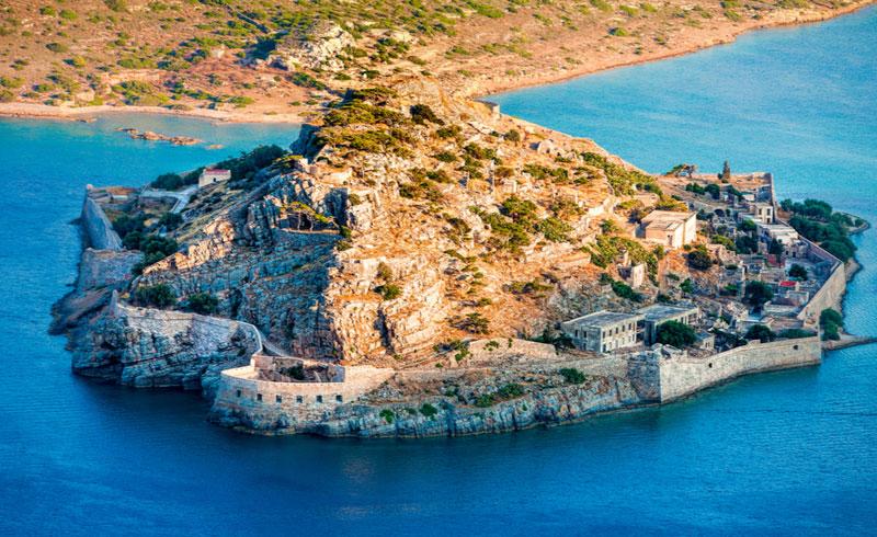Het Spinalonga schiereiland op Kreta