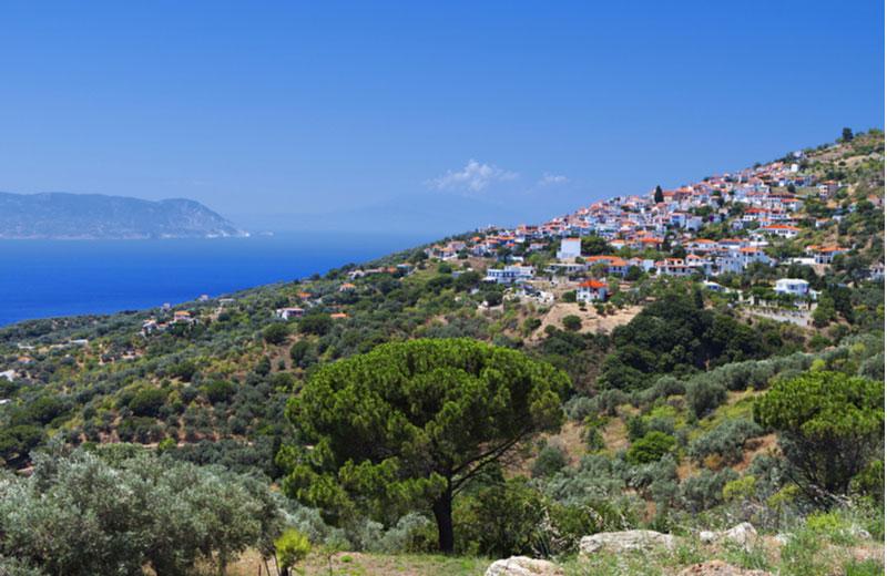Stad Glossa op Skopelos
