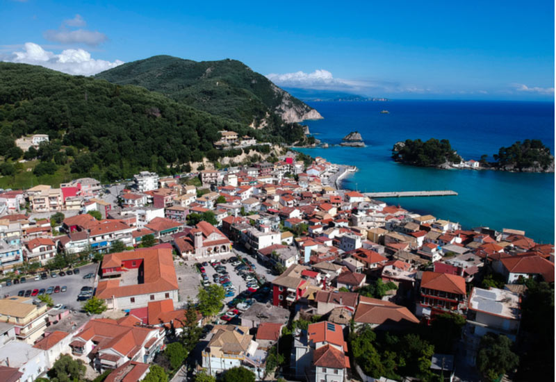 Stad Parga in Preveza Epirus