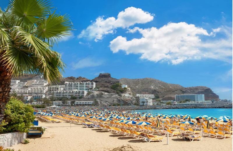 Het prachtige strand in Puerto Rico