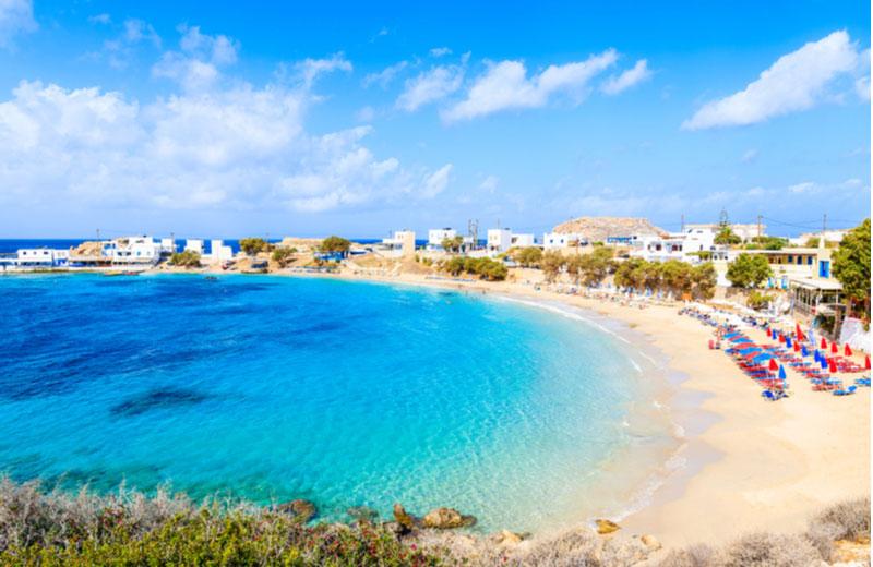 Het strand Lefkos beach