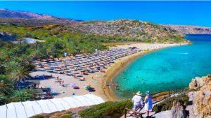 Het strand Vai beach