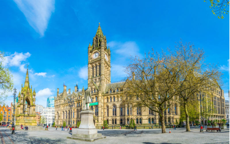 De Town Hall op het Albert Square plein