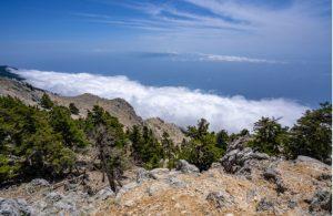 Uitzicht vanaf de berg Ainos in het nationaal park