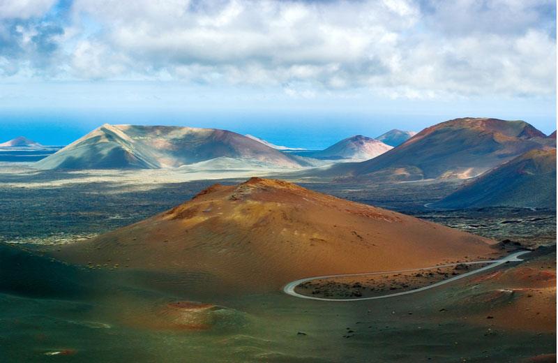 Vulkaanlandschap in het Nationaal Park Timanfaya
