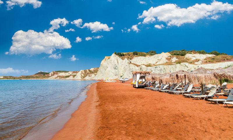Xi Beach op Kefalonia