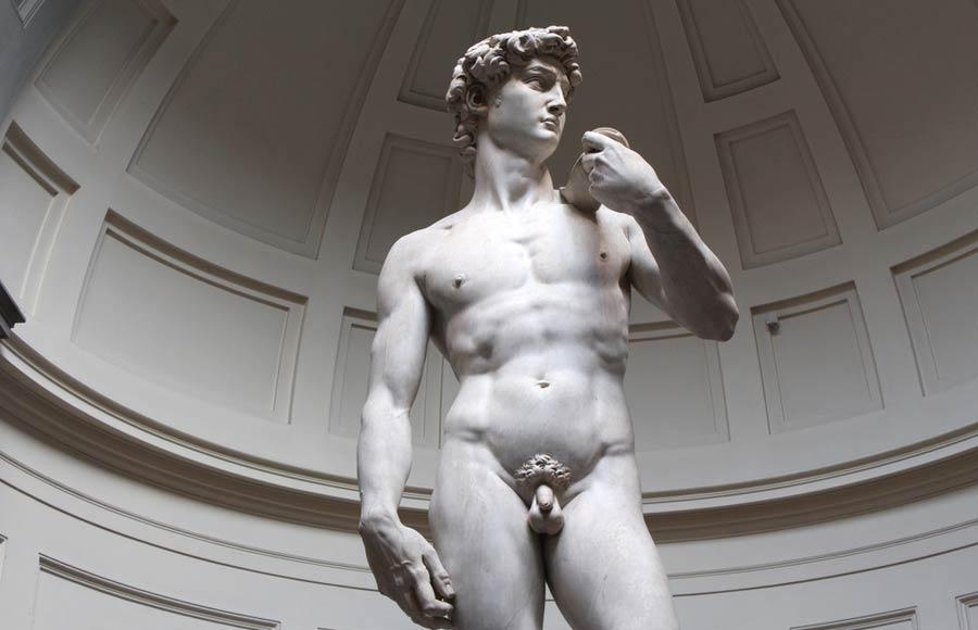 Beeld David van Michelangelo in het museum Galleria dell Accademia