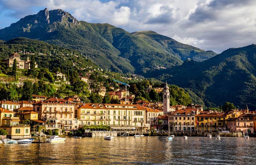 Het plaatsje Bellagio aan het Comomeer